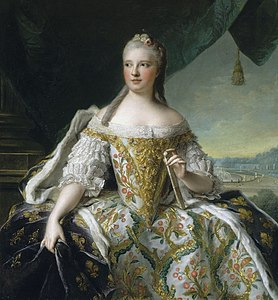 Marie Josèphe of Saxony as Dauphine of France by Jean-Marc Nattier (1751).jpg