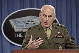 John F. Kelly - Kelly briefing reporters at the Pentagon in Arlington, Virginia