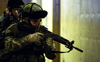 RK 95 TP - Marine with RK 95 TP assault rifles. in U.S. and Finland exercises in Black Sea Rotational Force 2014.