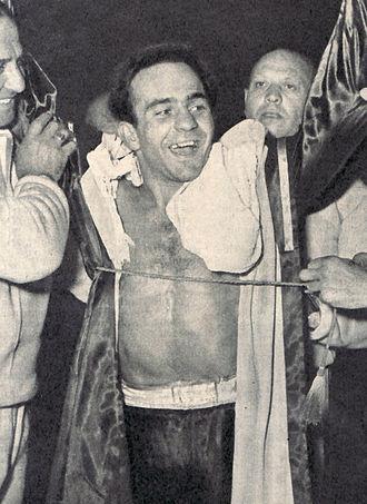 Alphonse Halimi - Mario D'Agata in 1955