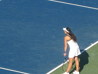 Marion Bartoli - Bartoli at the 2008 Pilot Pen Tennis tournament, where she beat Tsvetana Pironkova 2–6, 6–4, 7–5