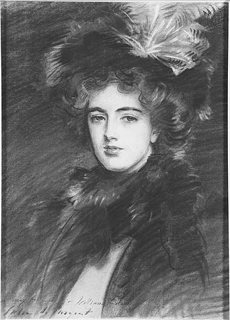 Leopold Greville, 6th Earl of Warwick - Marjorie Eden, Lady Brooke, later Countess of Warwick (1887-1943) (John Singer Sargent)