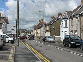 Whitland - Image: Market Street, Whitland geograph.org.uk 1414951
