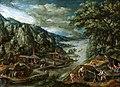 Marten van Valckenborch - River landscape wit iron mining scene (1611).jpg