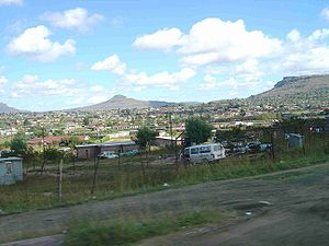 Maseru - View from the main road south in Maseru