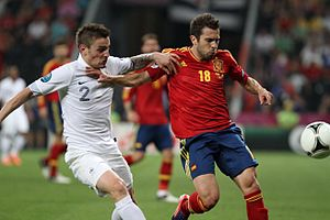Mathieu Debuchy - Debuchy and Spain's Jordi Alba in the quarter-finals of Euro 2012