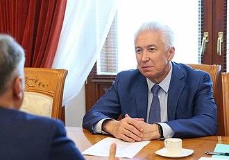 Vladimir Vasilyev (politician) - Image: Matovnikov in Dagestan (2018 07 19) 4