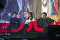 Matt Smith, Jenna Coleman, Steven Moffat (24 November 2013).jpg