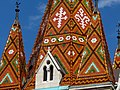 Matthias Church tower windows, 2013 Budapest (299) (13228043545).jpg
