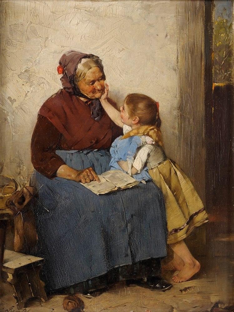 Max Rentel Großmutter mit Enklein