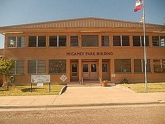 McCamey, Texas - McCamey Park Building events center at 212 W. 7th St.