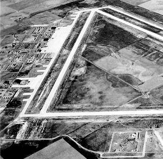 McCook Army Air Field - McCook Army Airfield, 1944, looking northwest