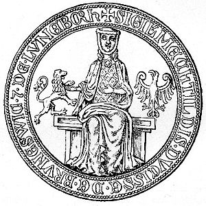 Matilda of Brandenburg, Duchess of Brunswick-Lüneburg - Seal of Duchess Matilda