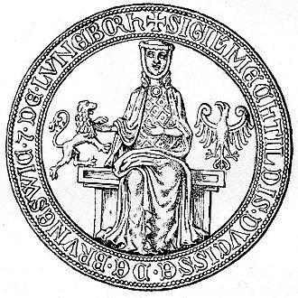 Matilda of Brandenburg, Duchess of Brunswick-Lüneburg - Seal of Duchess Matilda