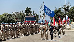 Naqoura - UN troops in Naqoura