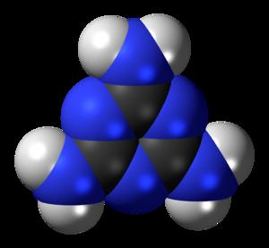 Melamine - Image: Melamine 3D spacefill