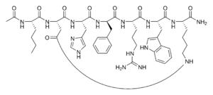 Strukturformel von Melanotan II