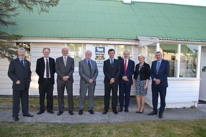 Legislative Assembly of the Falkland Islands - Members of the Falkland Islands Legislative Assembly and Mark Lancaster TD MP in November 2016.