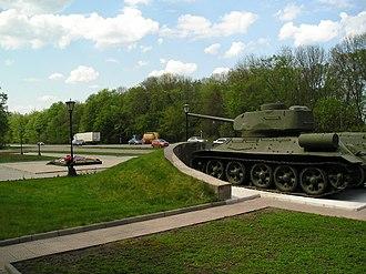 Mtsensky District - Tank Memorial in Pervyi Voin, Mtsensky District