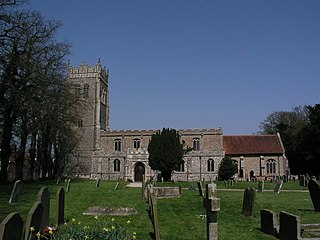 Church of St Mary, Mendlesham Church in Suffolk, England