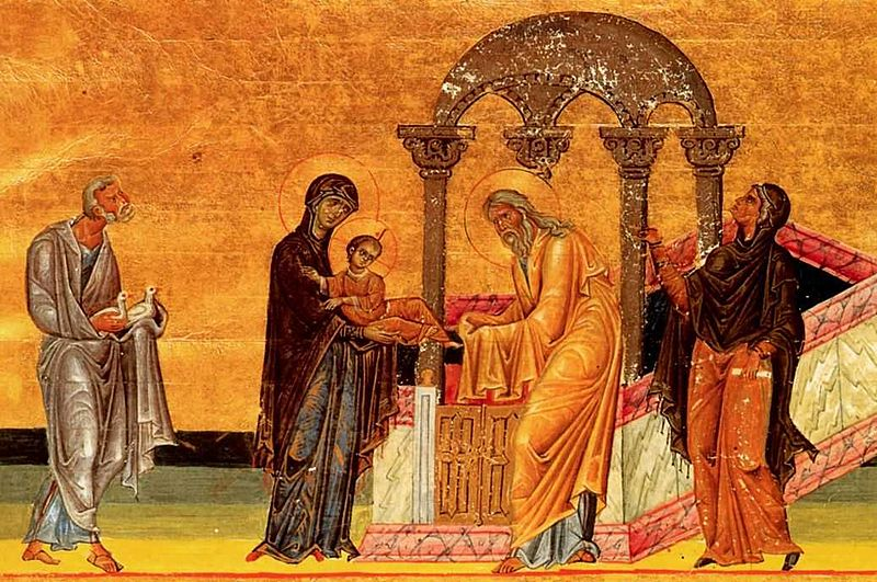 Presentation of Christ in the temple - Menologion of Basil
