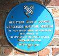 Merseyside Maritime Museum plaque 1984.jpg