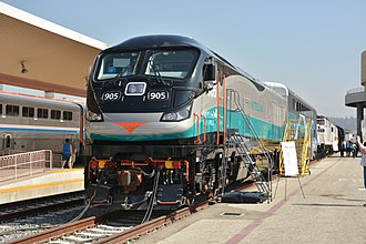 EMD F125 - SCAX 905, the first F125 delivered to Metrolink, unveiled at Los Angeles Union Station.
