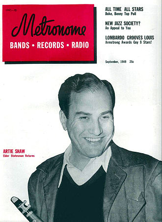 Metronome magazine - Artie Shaw on the cover of the September 1949 issue