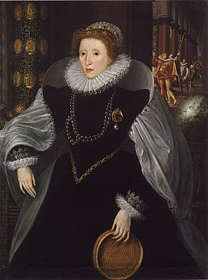 Quentin Metsys the Younger - The Sieve Portrait of Elizabeth I by Quentin Metsys the Younger, c. 1583