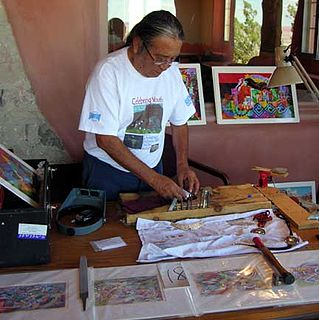 Michael Kabotie Hopi silversmith, painter, sculptor and lecturer from Arizona