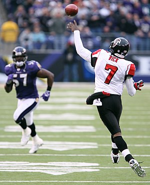Michael Vick during a game against the Baltimo...