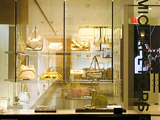 Capri Holdings - A Michael Kors purse shop