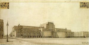 Rijksakademie van beeldende kunsten - Michel de Klerk's 1918 competition design for the Rijsksakademe van beeldende kunsten