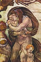 Michelangelo - Sistine chapel - Deluge - Detail women with children.jpg