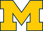 A maize block M with blue-colored borders.