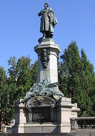 Cyprian Godebski (sculptor) - Image: Mickiewicz by Godebski(Warsaw)