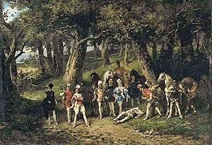 Władysław Bakałowicz - The Duel of Les Mignons