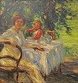 Mihailo Milovanovic, Breakfast, 1910.jpg