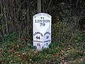 Milepost on B1438 Yarmouth Road - geograph.org.uk - 1020231.jpg