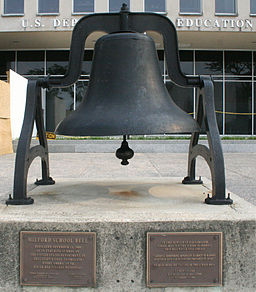 Milford School Bell at Dept of Education