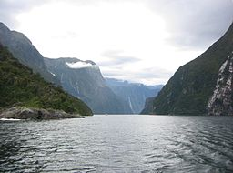 Milford Sound i Fiordland nationalpark