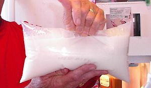 Milk bag - A milk bag in the Canadian province of Ontario