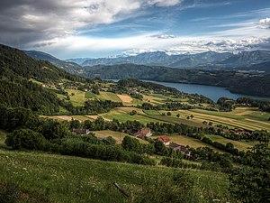Family farm - Dispersed settlement landscape in Carinthia.