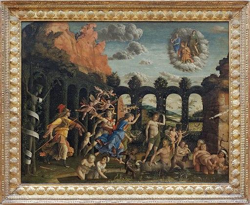 Minerve chassant les Vices du jardin des Vertus, Mantegna (Louvre INV 371) 01