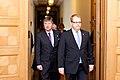 Ministru prezidents Valdis Dombrovskis tiekas ar Igaunijas ārlietu ministru Urmasu Paetu (6886274815).jpg