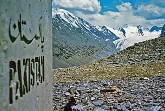 Mintaka Pass - A Pakistani border marker near Mintaka Pass