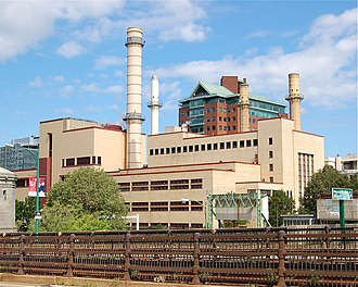 Cogeneration - The 250 MW Kendall Cogeneration Station plant in Cambridge, Massachusetts