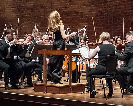 Mirga Grazinyte-Tyla conducting the City of Birmingham Symphony Orchestra Mirga Gra-inyt--Tyla conducts the CBSO, Aldeburgh Voices and Aldeburgh Music Club at Aldeburgh Festival-crop.jpg