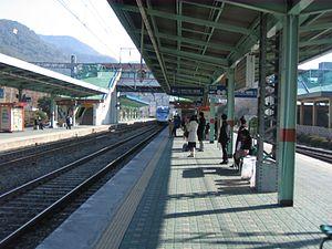 Miryang Station - KTX at Miryang Station