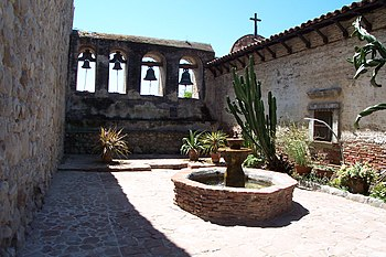 "A view of Mission San Juan Capistrano's ""..."